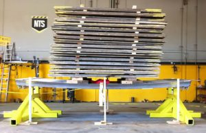LITE guard trench shields under test in the USA @ NTS with 80 tonne load of steel road plates.