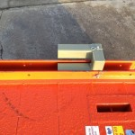 adaptor bracket in stalled on trench shiled for use as a manhole box / access chamber