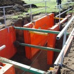 Safety Hand Rails installed on LITE guard Trench Shields