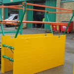 Standard Shield fitted with safety handrails
