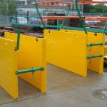 LITE guard standard shields (double skinned) with adjustable spreader bars, joiners and handrails