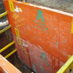LITE guard super sized shields shoring an excavation