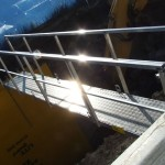 Trench bridge provides safe access to trench shoring