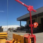 LITE guard Davit Arm attached to Manhole Box