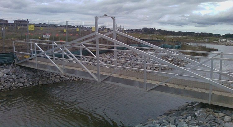 LITE guard aluminium trench bridge spanning water